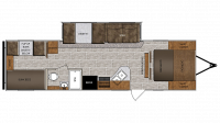 2019 Wildcat 292QBD Floor Plan