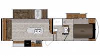 2019 Wildcat 29RLX Floor Plan