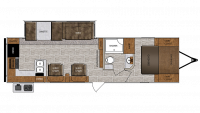 2019 Wildcat 311RKS Floor Plan