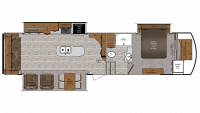 2019 Wildcat 32WB Floor Plan