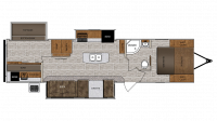 2019 Wildcat 343BIK Floor Plan