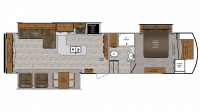 2019 Wildcat 34WB Floor Plan