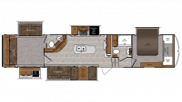 2019 Wildcat 375MC Floor Plan