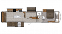2019 Wildcat 383MB Floor Plan