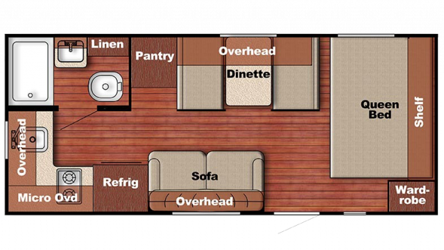 2019 Capri 199RK Floor Plan