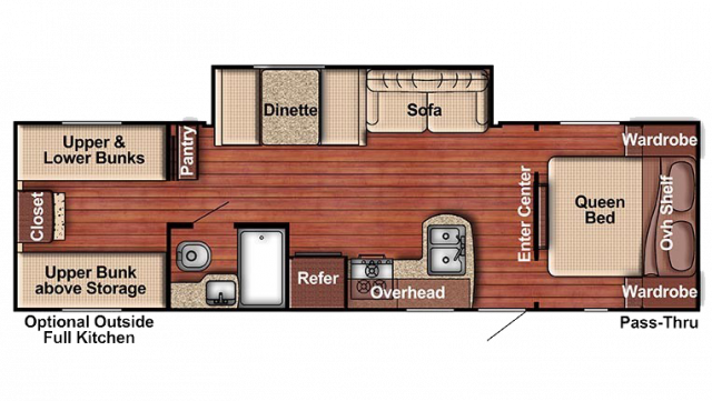 2019 Kingsport 279BH Floor Plan
