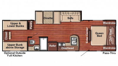 2018 Kingsport 279BH Floor Plan Img