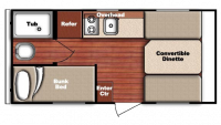 2019 Kingsport 16BHC Floor Plan