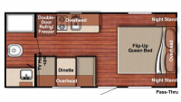 2019 Kingsport 189DD Floor Plan