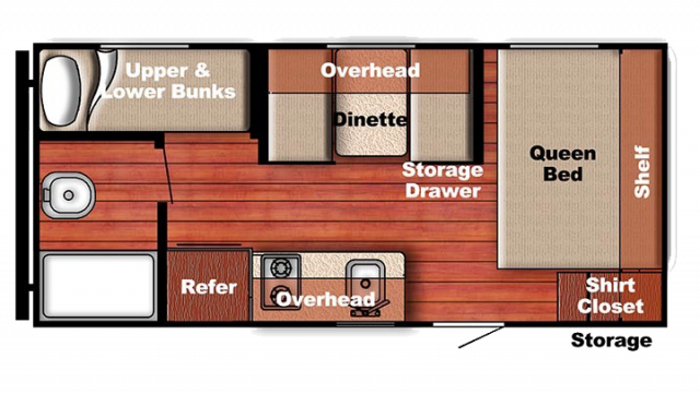 2018 Kingsport 199DD Floor Plan Img