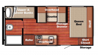 2018 Kingsport 199DD Floor Plan