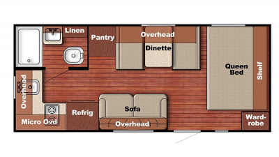 2018 Kingsport 199RK Floor Plan Img