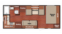 2019 Kingsport 199RK Floor Plan