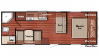 2019 Kingsport 241RB Floor Plan