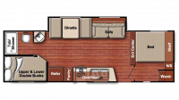 2019 Kingsport 255BH Floor Plan