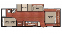 2019 Kingsport 259BH Floor Plan