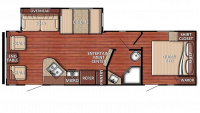 2019 Kingsport 262RLS Floor Plan
