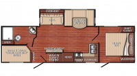 2019 Kingsport 276BHS Floor Plan