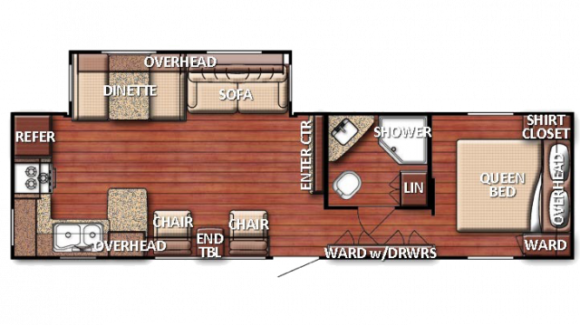 2018 Kingsport 299SBW Floor Plan Img
