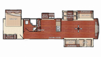 2019 Kingsport 406FLR Floor Plan