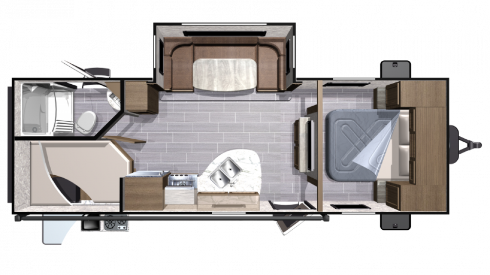 2018 Mesa Ridge Lite MR2504BH Floor Plan Img