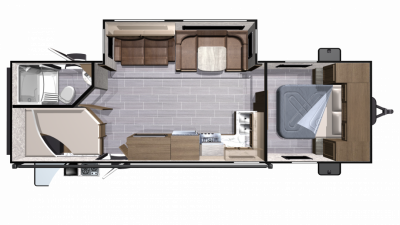 2019 Mesa Ridge Lite MR2802BH Floor Plan