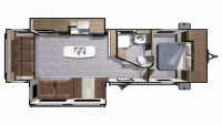 2018 Mesa Ridge Lite MR2910RL Floor Plan
