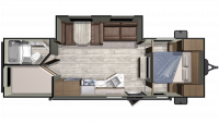 2019 Mesa Ridge Conventional 26BHS Floor Plan