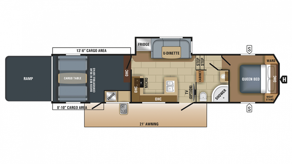 2018 Talon 393T Floor Plan Img
