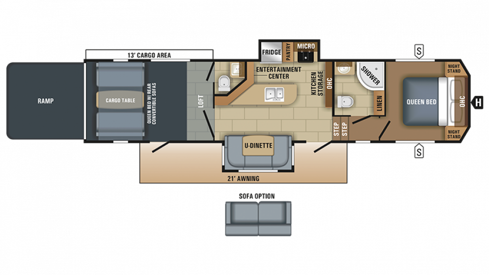 2018 Talon 413T Floor Plan Img