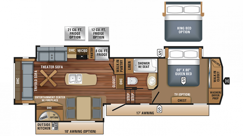 2018 Eagle 317RLOK Floor Plan Img