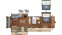 2018 Eagle 322RLOK Floor Plan