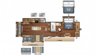 2018 Eagle 330RSTS Floor Plan