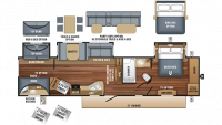 2018 Eagle 333BHOK Floor Plan