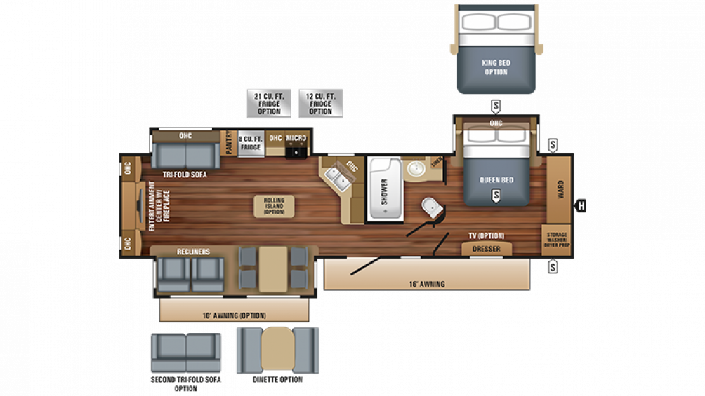 2018 Eagle 338RETS Floor Plan Img
