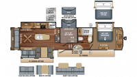 2018 Eagle 355MBQS Floor Plan