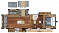2018 Eagle HT 28.5RSTS Floor Plan