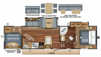 2018 Eagle HT 29.5BHDS Floor Plan
