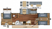 2018 Eagle HT 29.5FBDS Floor Plan