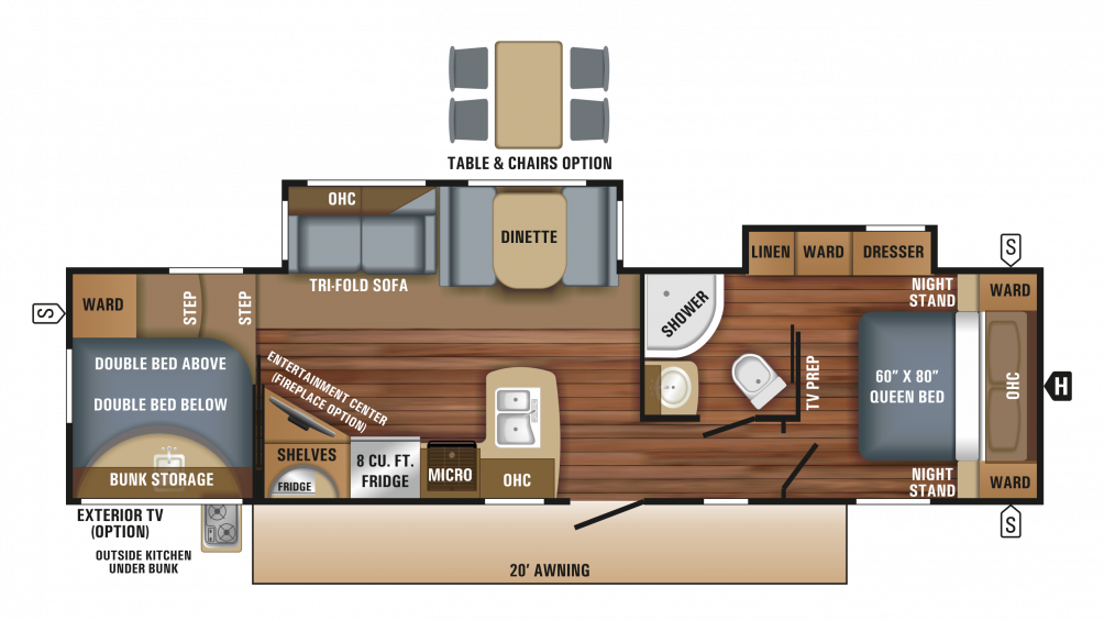 2018 Eagle HT 295DBOK Floor Plan Img