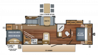 2018 Eagle HT 295DBOK Floor Plan