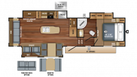 2018 Eagle HT 30.5CKTS Floor Plan