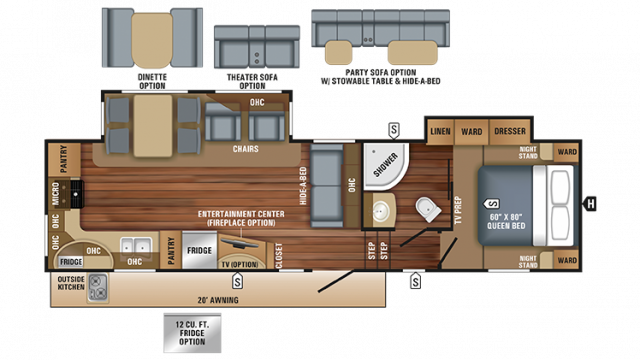 2018 Eagle HT 30.5MLOK Floor Plan