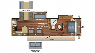 2018 Eagle HT 306RKDS Floor Plan Img