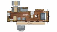 2018 Eagle HT 306RKDS Floor Plan