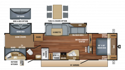 2018 Eagle HT 314BHDS Floor Plan Img