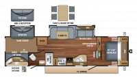 2018 Eagle HT 314BHDS Floor Plan