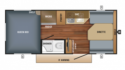 2018 Hummingbird 16FD Floor Plan Img