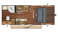 2018 Hummingbird 16MRB Floor Plan