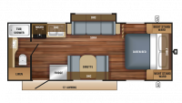 2018 Jay Feather 22RB Floor Plan